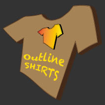 Outline SHIRTS Logo