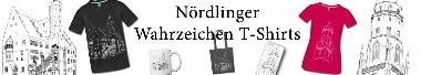 Nördlinger Wahrzeichen T-Shirts Motiv Daniel & Rathaus