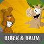 Biber und Baum